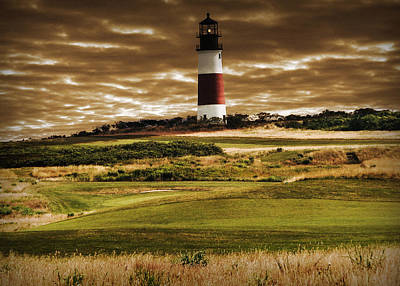 Print featuring the photograph Sankaty Head Lighthouse In Nantucket by Mitchell R Grosky