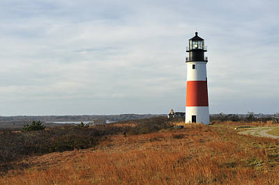 Photograph - Sankaty Head Lighthouse Nantucket In Autumn Colors by Marianne Campolongo