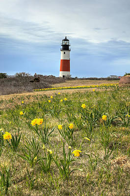 Sankaty Lighthouse Nantucket Art Print