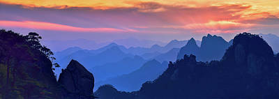 Wall Art - Photograph - Sanqing Mountain Sunset by Mei Xu