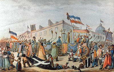 Discrimination Painting - Sans-culottes Parade, 1793 by Granger
