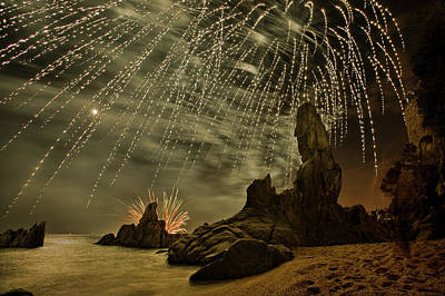 Firework Photograph - Sant Joan Feast  2 by Jordi Gallego