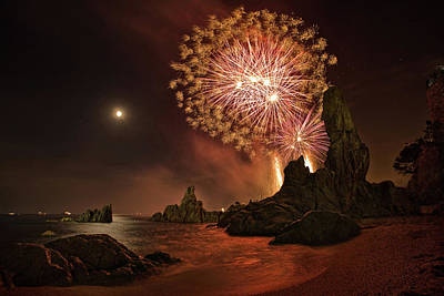 Firework Photograph - Sant Joan Feast by Jordi Gallego