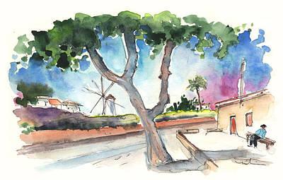 Old Mills Drawing - Santa Ana By Cartagena by Miki De Goodaboom