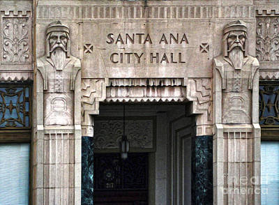 Santa Ana City Hall - 01 Art Print by Gregory Dyer