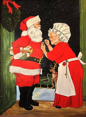 Santa And Mrs Art Print