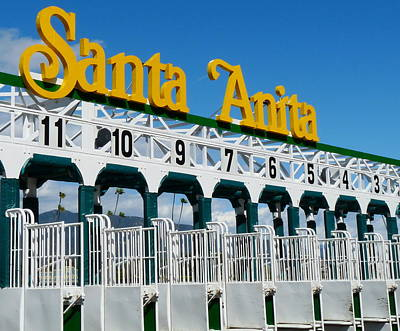 Photograph - Santa Anita Starting Gate by Jeff Lowe