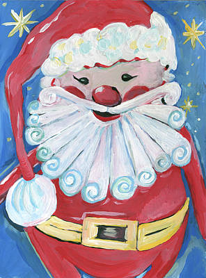 Santa Claus Painting - Santa by Anne Seay