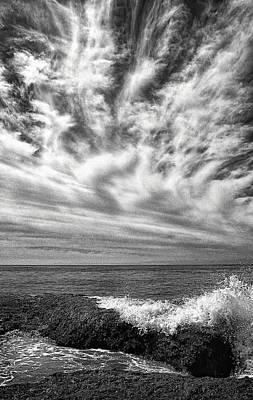 Horizon Line Digital Art - Santa Barbara Beach Clouds by Ron Regalado