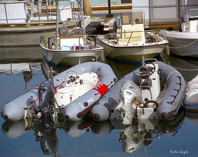Photograph - Santa Barbara Boat Rentals 2 by Barbara Snyder