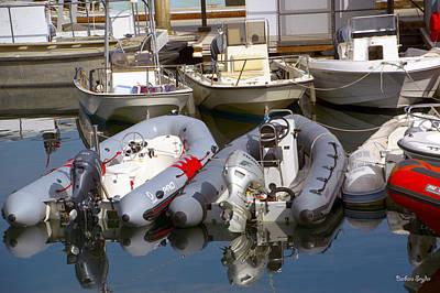 Santa Barbara Boat Rentals Art Print by Barbara Snyder