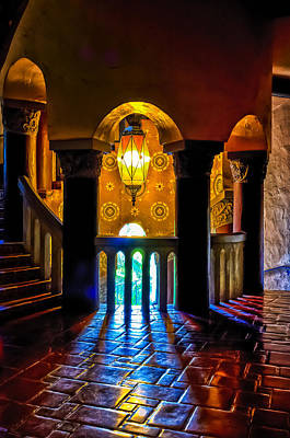 Photograph - Santa Barbara Courthouse Glow by Thomas Hall
