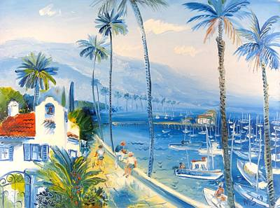 Santa Barbara Harbor Art Print