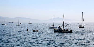 Photograph - Santa Barbara Harbor by Jan Cipolla