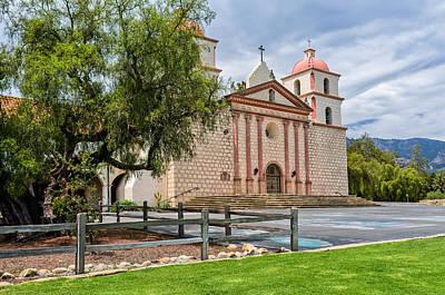 Photograph - Santa Barbara Mission by Thomas Hall
