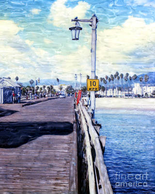 Mixed Media - Santa Barbara Pier by Glenn McNary