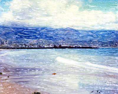 Mixed Media - Santa Barbara Shore by Glenn McNary
