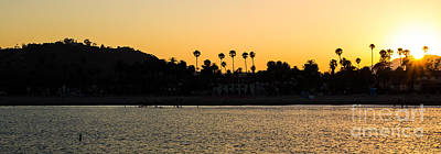 Photograph - Santa Barbara Sunset From Wharf by Suzanne Luft