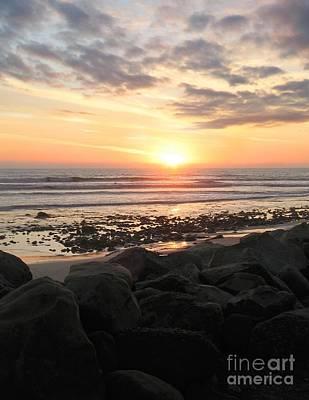 Ocean Sunset Wall Art - Photograph - Santa Barbara Sunset by Stu Shepherd