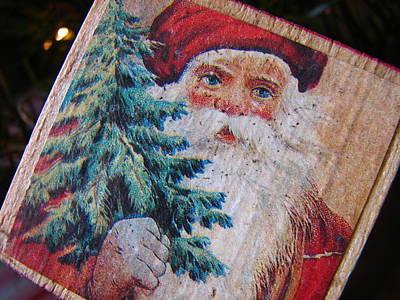 Santa Block Art Print