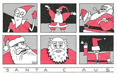 Drawing - Santa C Aus by Ralf Schulze