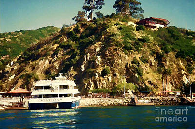 Lamdscape Photograph - Catalina Island 1990 by Siera Anthony Art