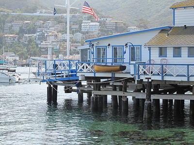Santa Catalina Yacht Club Art Print by Dennis Fairbairn