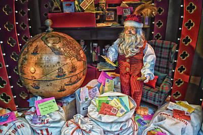 Santa Checking His Mail Hdr Art Print