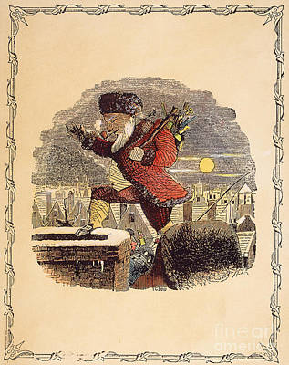 Santa Claus, 1848 Art Print by Granger
