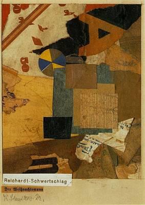 Modernist Mixed Media - Santa Claus 1922 by Kurt Schwitters