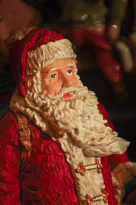 Santa Claus - Antique Ornament - 01 Art Print by Jill Reger