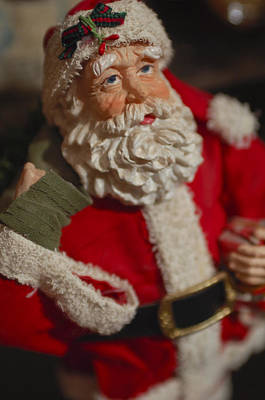 Photograph - Santa Claus - Antique Ornament - 02 by Jill Reger