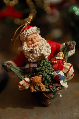 Photograph - Santa Claus - Antique Ornament - 04 by Jill Reger