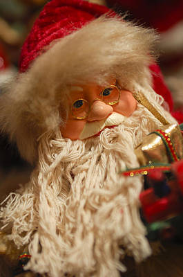 Photograph - Santa Claus - Antique Ornament - 08 by Jill Reger