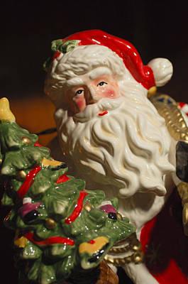 Photograph - Santa Claus - Antique Ornament - 10 by Jill Reger