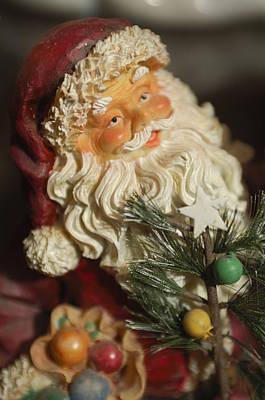 Photograph - Santa Claus - Antique Ornament - 18 by Jill Reger