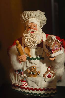 Santa Claus - Antique Ornament - 22 Art Print by Jill Reger