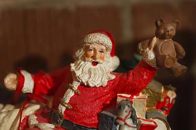 Santa Claus - Antique Ornament - 26 Art Print by Jill Reger