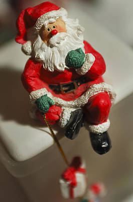 Santa Claus - Antique Ornament - 35 Art Print by Jill Reger
