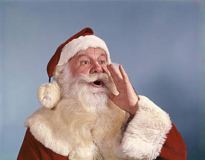 Santa Claus Calling Art Print