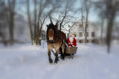 Santa Claus Art Print by Conny Sjostrom