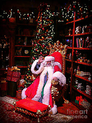 Photograph - Santa Claus Greeting by Scott Allison