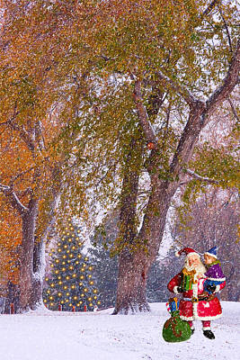 Winter Photograph - Santa Claus In The Snow by James BO  Insogna
