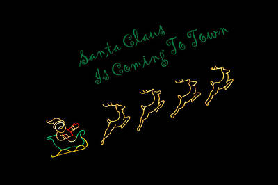 Photograph - Santa Claus Is Coming To Town by Deb Buchanan
