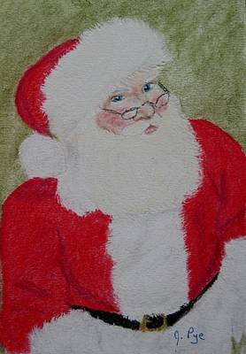 Pastel - Santa Claus by Joan Pye