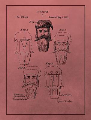 Santa Claus Mixed Media - Santa Claus Mask Patent by Dan Sproul