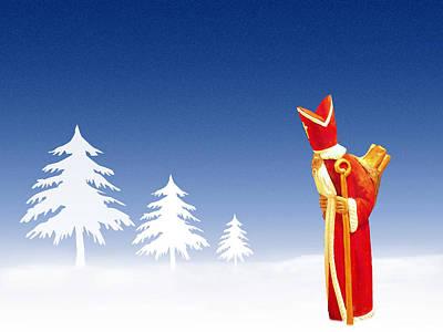 Snow Drifts Mixed Media - Santa Claus by Roman Milert