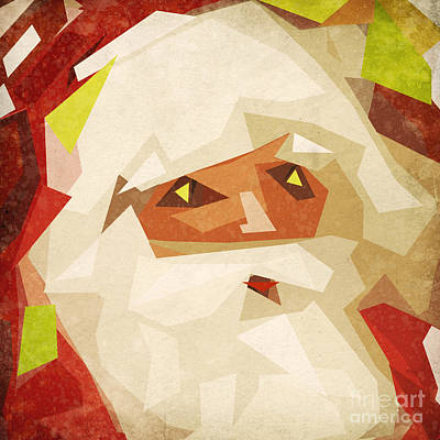 Christmas Greeting Painting - Santa Claus by Setsiri Silapasuwanchai
