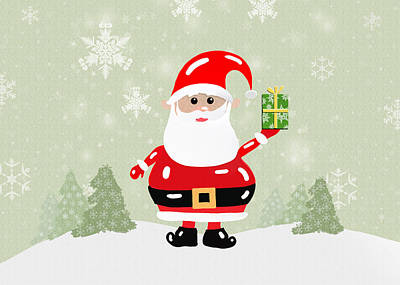 Snow Drifts Digital Art - Santa Claus by Tara Sullivan