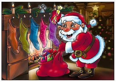 Painting - Santa Claus by Vitaliy Shcherbak
